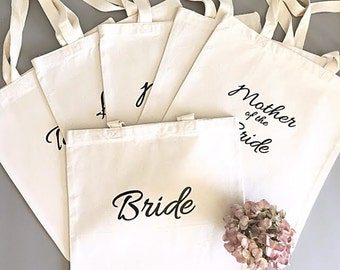 Custom tote bags - Tote bag - Bridal party tote bag bundle - Bridesmaid thank you gift
