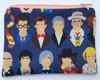 Doctor Who Zipper Pouch - The Doctors.