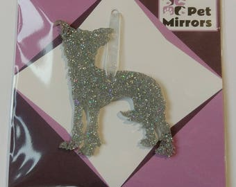 Glitter acrylic Chinese Crested Style 1 Christmas decoration - 9 colour choices