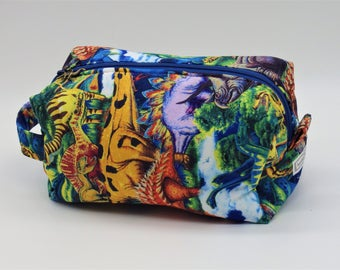 Dinosaurs Toy Bag, Dinosaur Travel Bag, Gadget Bag, Ditty Bag, Toiletry Kit, Pencil Case, Cosmetics Pouch, Go Bag, Age of Dinosaurs