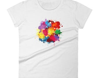 Women's short sleeve t-shirt (water splash)