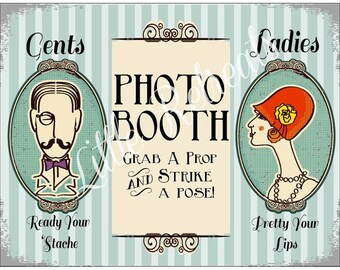 INSTANT Download. DIY PDF. Photo Booth Sign. Photo Booth Prop. Photobooth Prop. Photo Booth.Vintage Retr0