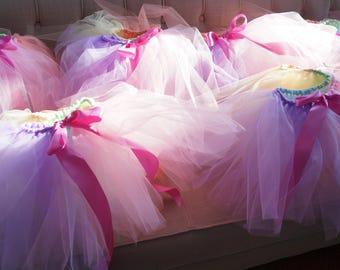 12 Kids Tutus - Tutu Party Pack - Unicorn Tutu Party - Pastel Rainbow
