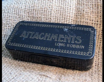 Vintage Greist Long Bobbin Sewing Machine Attachments in Box