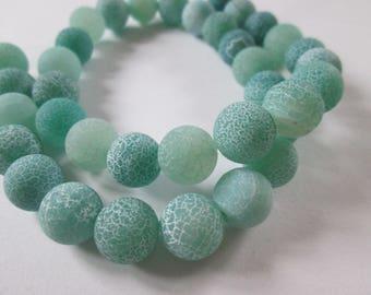 green dragon veins agate round 10 mm 10 beads