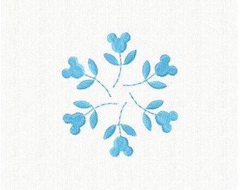 Mickey Mouse Snowflake Embroidery Design - INSTANT DOWNLOAD