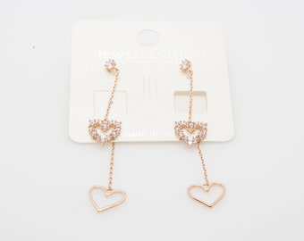 14K Gold Plated double sided earring