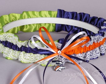 Super Bowl XLVIII Seattle Seahawks gegen Denver Broncos Rival Lace Garter