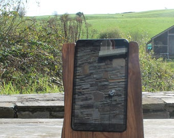 8 Inch Tablet Stand, Elm Tablet Stand, Rustic Tablet Stand, iPad Stand, Docking Station, Birthday gift, Gift Ideas, Unique Tablet Stand