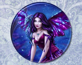 Andromeda Dragon Art Pocket Mirror