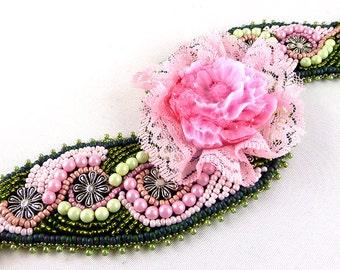 Bracelet, Bead Embroidery