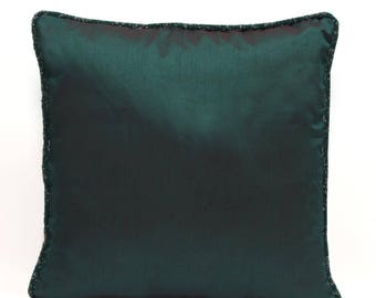 Dark Teal Pillow Cover Teal Throw Pillow Teal Bead Pillow Minimalist Pillow Modern Decor Home Decor Teal Lumbar Pillow Teal Euro Sham