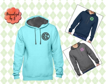 Monogrammed Hoodie, Monogrammed Pullover, Personalized Gift, Gift for her, Monogram Sweatshirt, Personalized Gift for sister, Mom