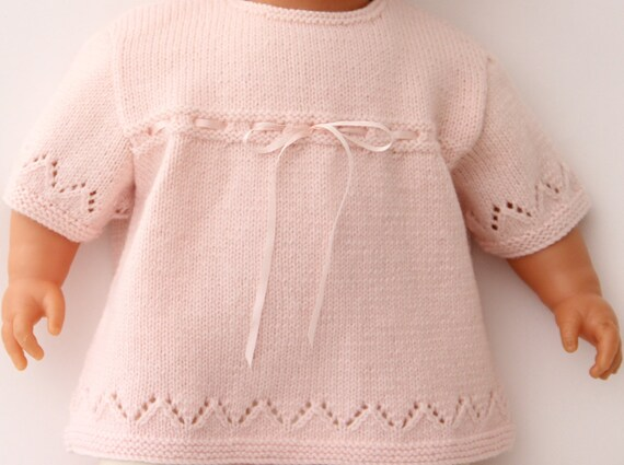 Lace Baby Tunic Instructions in French PDF Instant download Size Newborn - 3 months