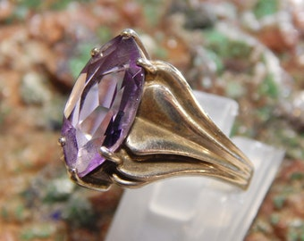 Genuine Amethyst Sterling Ring