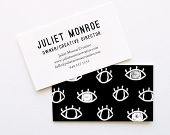 Eyes on the Prize Business Cards // DIY Business Cards // Printable Business Cards // Instant Download Business Cards // WORD FILES