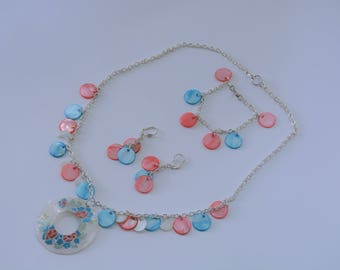 Mother of Pearl Jewelry Set
