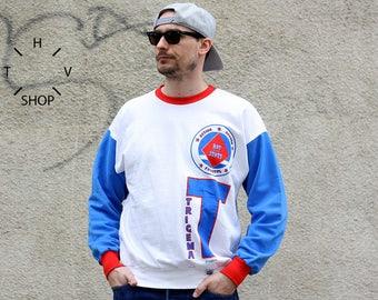 NOS Vintage TRIGEMA sweatshirt / Adidas longsleeve t-shirt / Sports Unisex crewneck sweater / Oldschool pullover / Made in West Germany