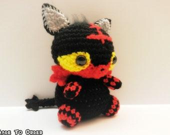 Crochet Litten Inspired Chibi Pokemon Starter