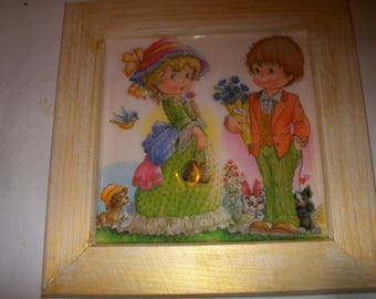 Nice deco frame children bouquet
