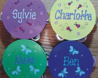 Personalized Tambourine ** SALE ** Personalized & Gift Wrapped Tambourine