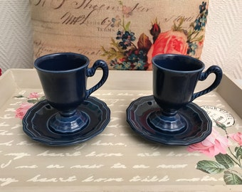 A pair of french coffee cups