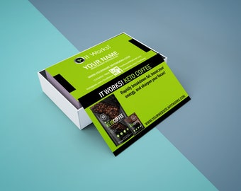 It works business cards etsy it works business card digital or printed free shipping colourmoves Choice Image