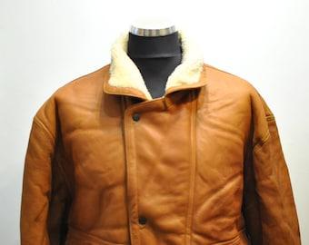 Vintage LAMBSKIN MEN'S JACKET , men's bomber jacket ..........(615)