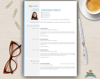 Creative cv template etsy curriculum vitae template europass modern cv design 3 page resume cv a4 official yelopaper Choice Image