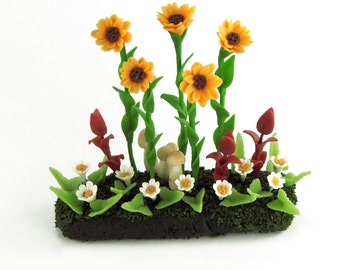 Minigarden, delicate and beautiful, for dollhouse collection, 7.9 USD
