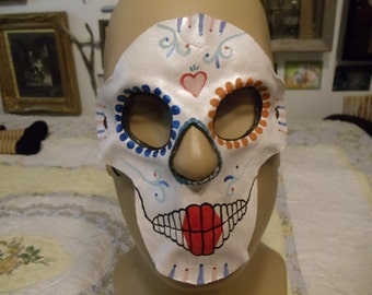 SMALL Leather sugar skull mask