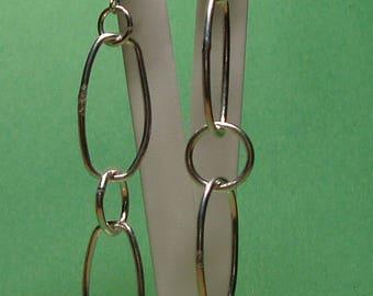 Solid 925 Sterling Silver Link Earrings