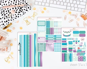 Siren HORIZONTAL Weekly Kit // 130+ Matte Planner Stickers // Perfect for your Erin Condren Life Planner // WKH0100
