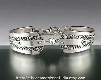 Silver Spoon Bracelet LIDO Jewelry Vintage, Silverware, Gift, Anniversary, Wedding, Birthday