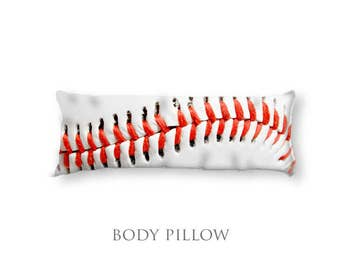 Baseball Body Pillow-Bed Pillow-Sleeping Pillow-Extra Large Pillow-Sports Pillow Cover-Baseball Pillow Cover-Bed Pillow Cover-Bed Bolster