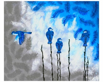 BlueBirds Becoming Free Print