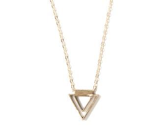 Mini Concentric Triangle Necklace