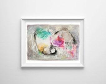 Grey Abstract painting, Acrylic abstract art, Acrylic painting, Watercolor original, Original Painting, Painting, Colorful painting, Art