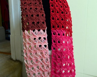 Broomstick Lace Scarf - Handmade - Crocheted - Neckwarmer - Ready to ship - Ready to Ship