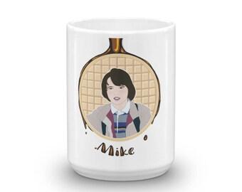 Waffles Don't Lie - Mike, Geeky Mug, Fandom Mug, Eleven Mug, Gift for Geeks, Gift for Nerds, Waffle Mug