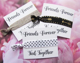 Hair ties - Bridesmaids Favors - Birthday - Party Favors - Hair Accessories - Hair Tie Favors - Everyday Elastic Hair Ties - Card05
