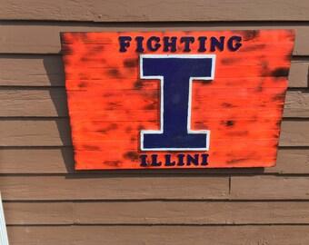 Fighting Illini Sign