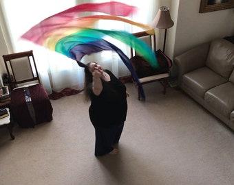 Prophetic - Silk Flag - Worship Flag - Praise Dance - Dyed Silk - Streamer Flag called Inherent Identity