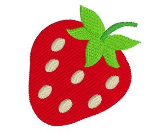 Mini Strawberry Machine Embroidery Design, Fill Stitch Strawberry Machine Embroidery Design, 3 Mini Sizes, INSTANT DOWNLOAD, No: JGS00021-1