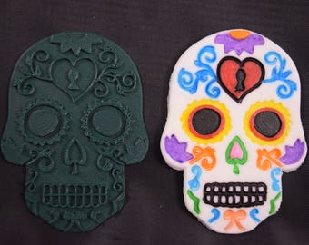 Day of The Dead Sugar Skull w/ Heart Cookie Cutter