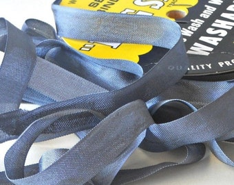 SALE 10 Yards Charcoal Grey Seam Binding Ribbon, Hug Snug Woven Rayon, Bows, Gift Wrap, Sewing, Crafts (CGHSSBGREY-042318) - 1/2 Inch Wide