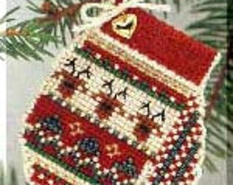 20% OFF SALE! MHCM7 Warm & Wooly Charmed Mitten Ornament Kit from Mill Hill