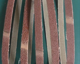 5 pc Sanding Belts 13x457mm for Powerfile 40,60,2x80 120 grit for craft hobby (910232)
