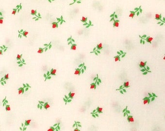 "Small Red Posies,  5 yards, 44"" Wide"