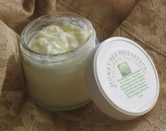 Organic Wrinkle Away Face Cream made with jojoba oil and carrott seed essential oil goes great with Wrinkle Away Eye Cream